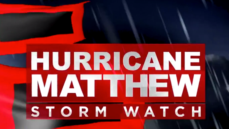 Hurricane Matthew News Graphic